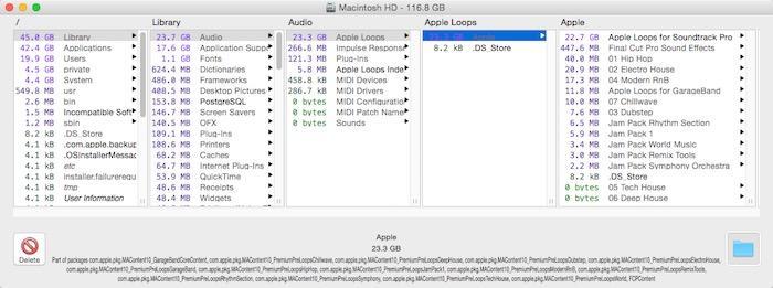 Find big files on your harddrive