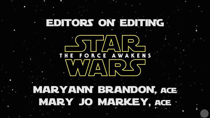 StarWars Force Awakens editors