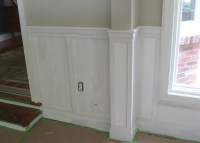 How to Install Chair Rail with Flat Panel Wainscoting ...