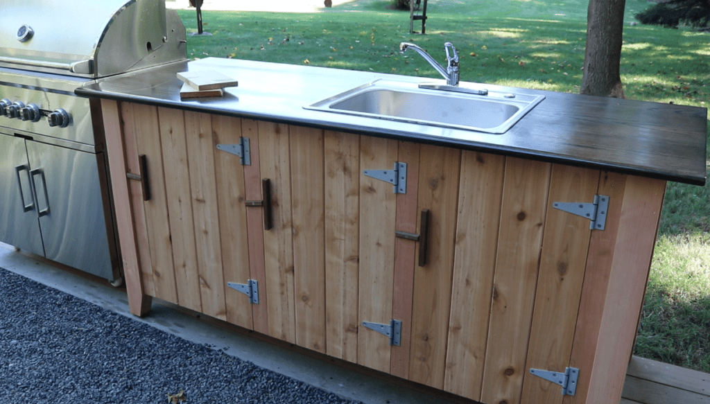 How To Build Outdoor Kitchen Cabinets How To Build An Outdoor Kitchen Cabinet - Jon Peters Art