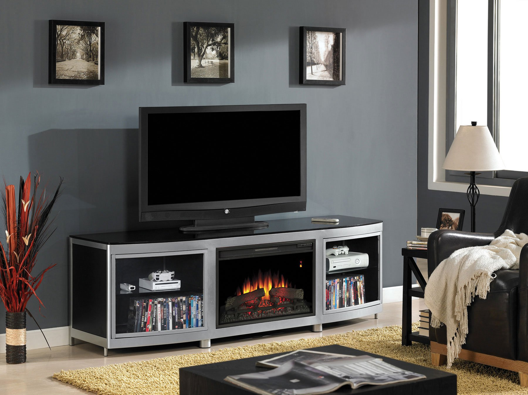 Fireplace Tv Combo Top 10 Best Electric Fireplace Tv Stand Reviews 2019 Guide