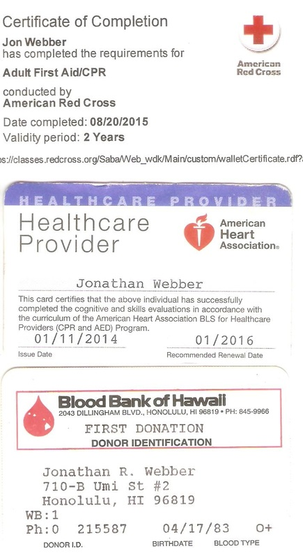 CPR/AED/BLS - jonathan webber