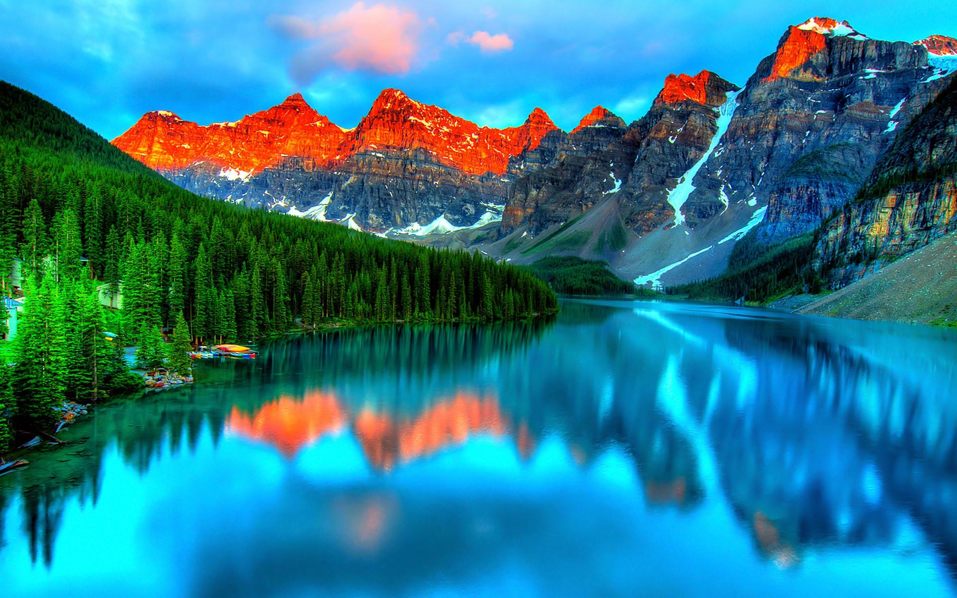 Fall Mountain Lake Wallpaper Free Photo Beautiful Scenery Scenic Scenery Green