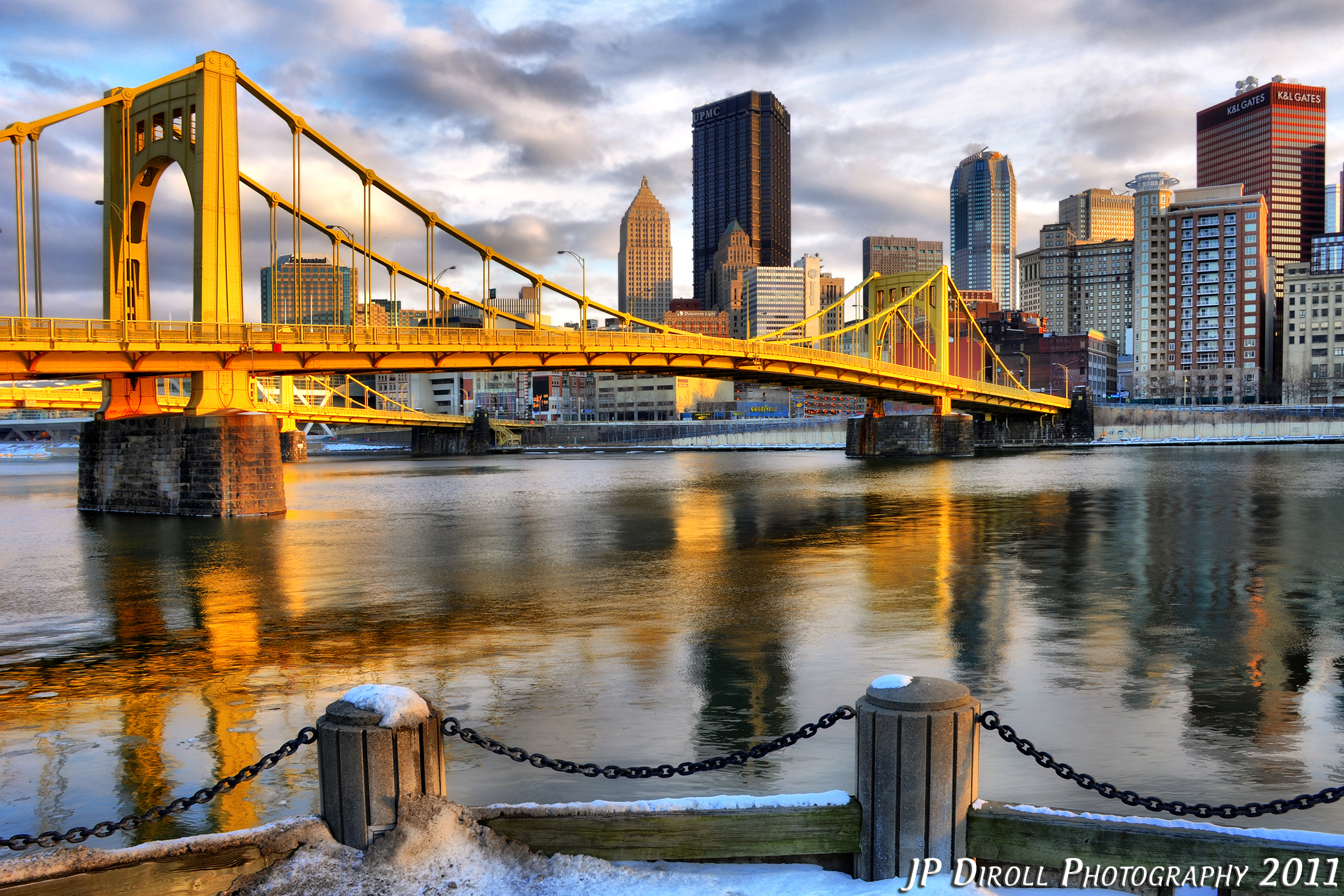 Free Fall Wallpaper And Screensavers Free Photo Pittsburgh Winter Skyline Skyline Road