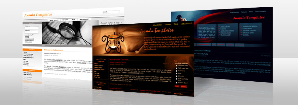 Free and commercial high-quality Joomla 15 and Joomla 25 Flash