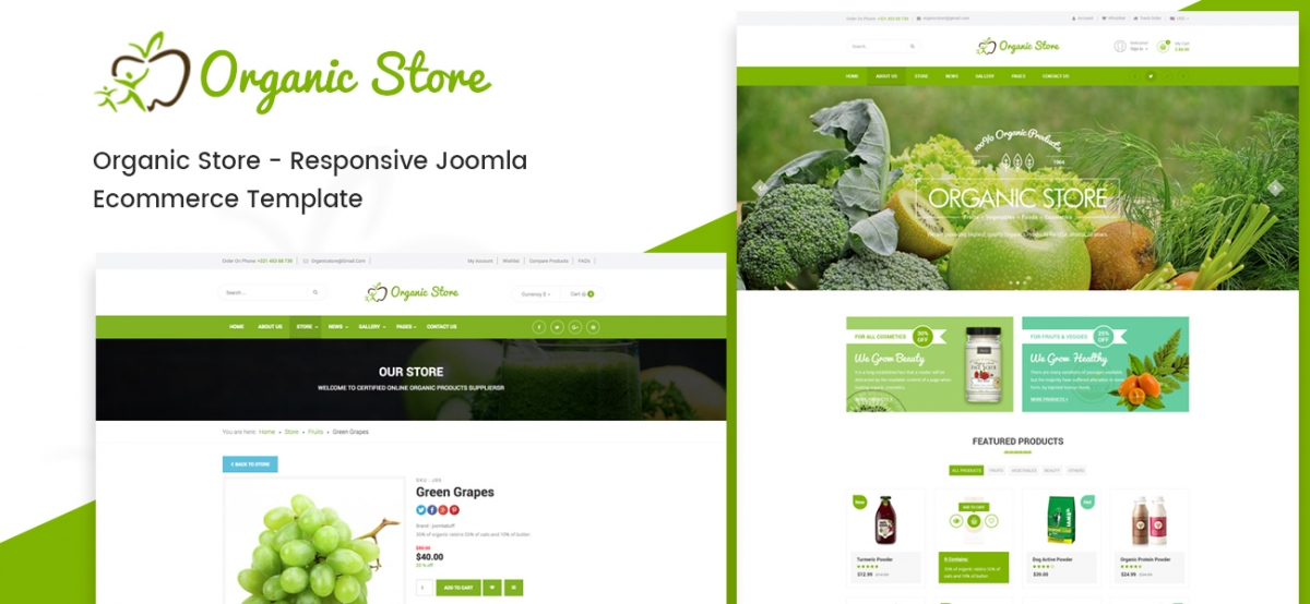 Introducing Organic Store - A Brand New Joomla E-commerce Template