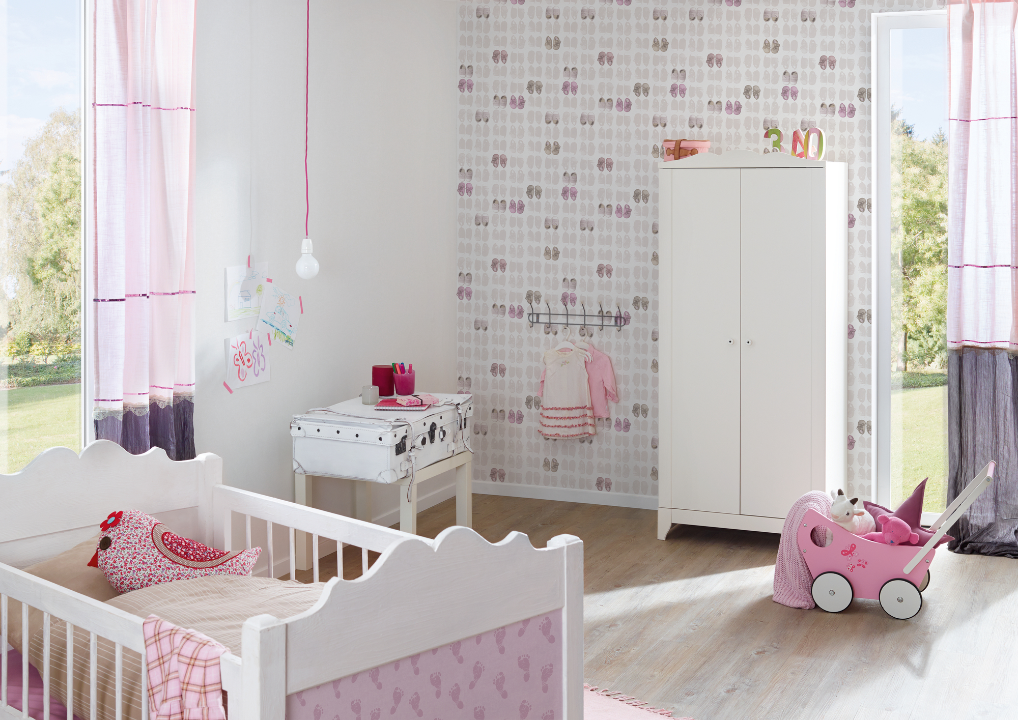 Streifentapete Kinderzimmer Little Stars - Kindertapeten Von As Creation | Joratrend Tapetenshop