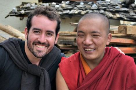 Compartiendo con un monje en el monasterio