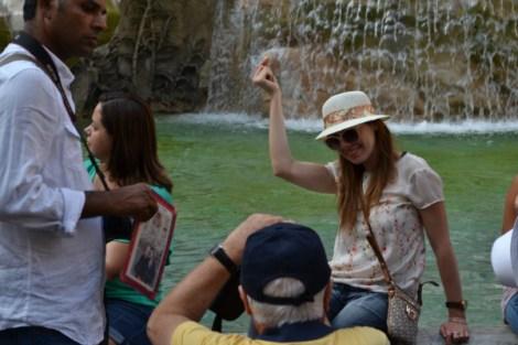 El estereotipo en la Fontana di Trevi