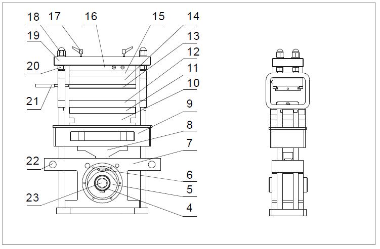 blister machine diagram