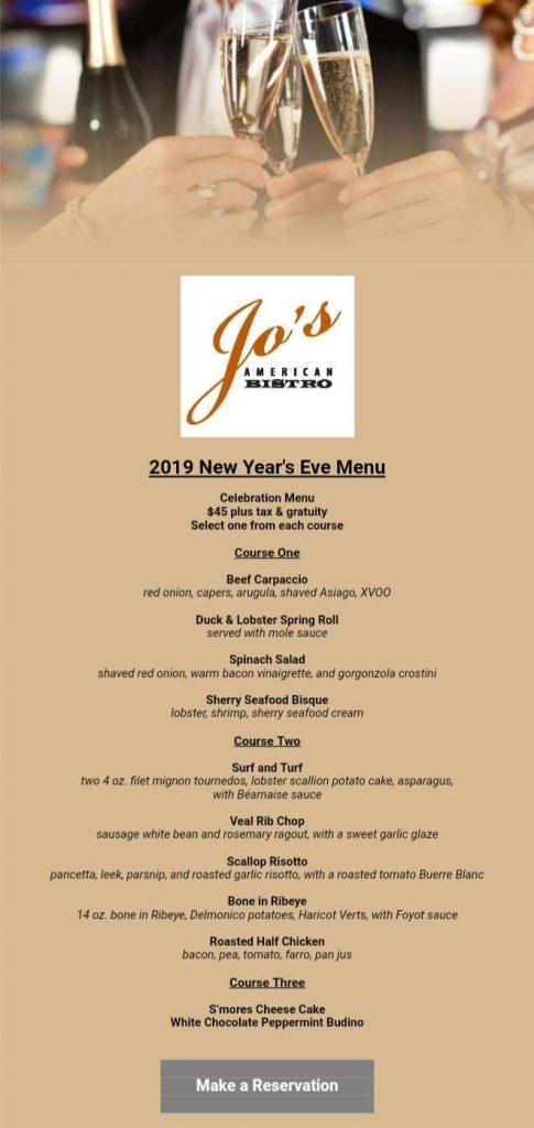 New Year\u0027s Eve Menu \u2022 Newport RI Restaurants - American cuisine