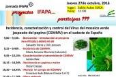 Día 27 de octubre. Jornada sobre 'El virus del mosaico verde jaspeado del pepino'