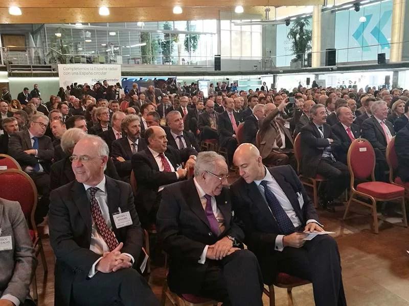Más de 600 empresarios en el encuentro por el Corredor Mediterráneo celebrado hoy en Murcia.
