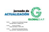 Día 22 de septiembre. Jornada de actualización de la certificación GlobalG.A.P