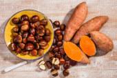 El consumo de castaña y boniato el Día de Todos los Santos
