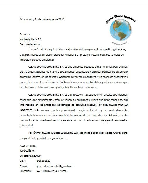 Cartas de Presentación José Eduardo Calla Marquina