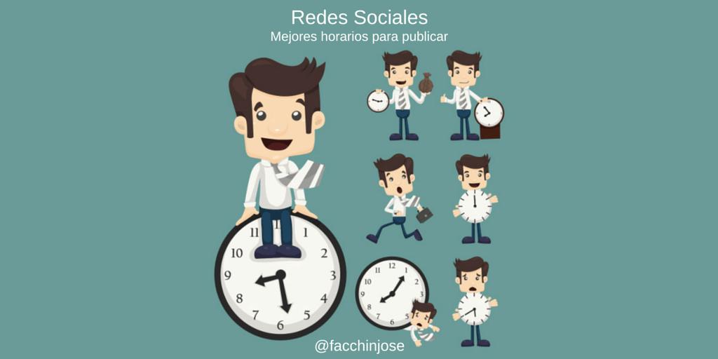 ¿Cuál es el mejor horario para publicar en redes sociales? #Infografía