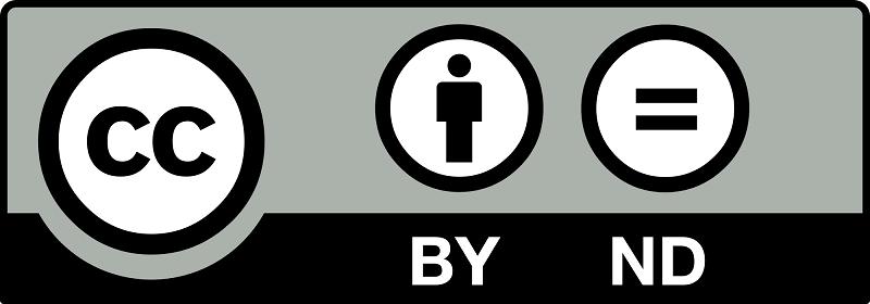 Licencia de autor Creative Commons (Reconocimiento - Sin Obra Derivada - CC by-nd)
