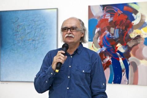 Předseda Jednoty umělců výtvarných Josef Achrer