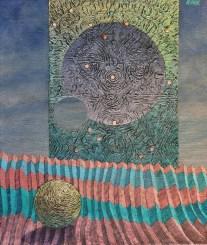 Josef Achrer Skrz oblohu 66 cm x 56 cm