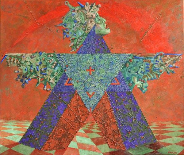 Josef Achrer Velká hvězda 133 cm x112