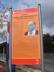 Paseo José Luis Dominguez, en Riotinto