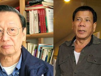 Mayor Rodrigo Duterte had a brief conversation with the founder of the Communist Party of the Philippines on Monday, April 25 where he told his former professor, Prof. Jose Maria Sison of his plans should he win this election. (davaotoday.com file photo)