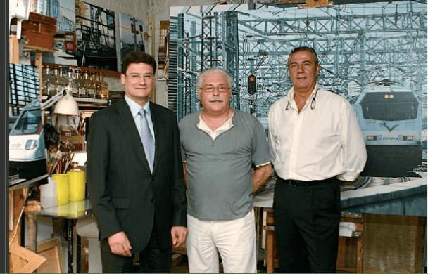 De izq. a dcha. Jose Mª Cubilo, Jose Miguel Palacio y Agustín López Quesasa