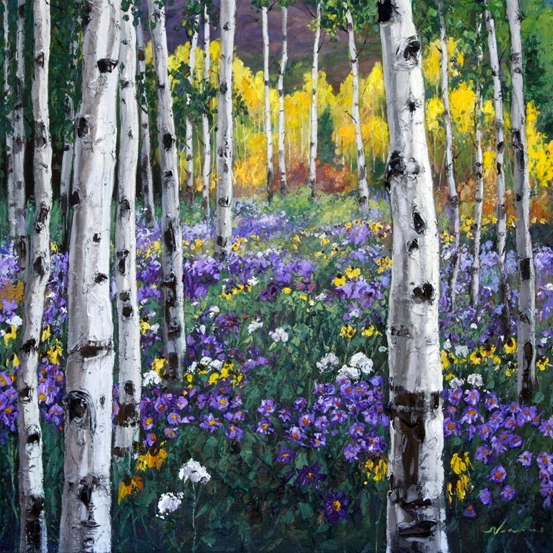 Fall Birch Tree Wallpaper Mountain Meadow By Jennifer Vranes Joseph Donaghy Art