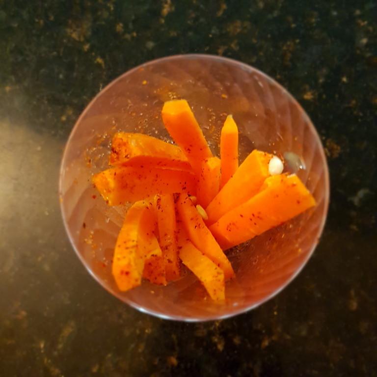 Una zanahoria rebanada