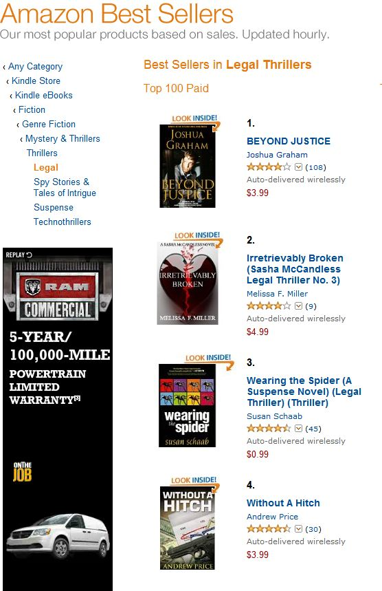 #1 In Legal Thrillers, Kindle