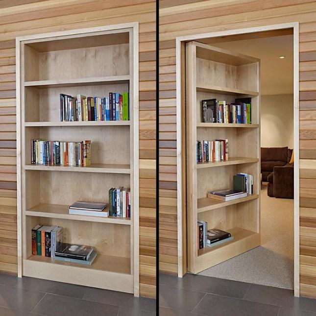 hidden door bookcase design