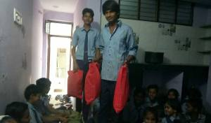 The boys arriving with bags full of special outfits to celebrate Diwali