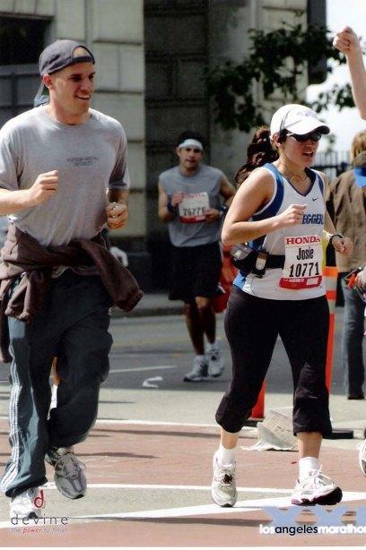 Lloyd joining me on mile 25 of the 2006 LA Marathon