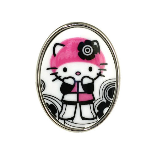 Tarina Tarantino Pink Head Hello Kitty Ring