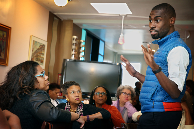 "(Activist DeRay Mckesson tells Journalists Roundtable, "" If the conditions don't change, I don't think people will stay involved."" (Credit: Sharon Farmer/sfphotoworks)"