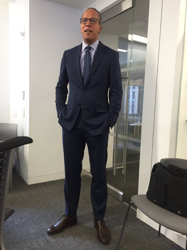 Lester Holt visited the board of directors of the National Association of Black Journalists when it met April 2 in the New York headquarters of NBC. (Credit: NABJ)