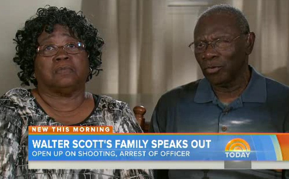 Walter Scott's parents, Judy and Walter Sr,. said last year that if it had not been for cellphone footage of their son's shooting, if it had not been for the cellphone footage, his death would have been swept under the rug, 'like so many others'.