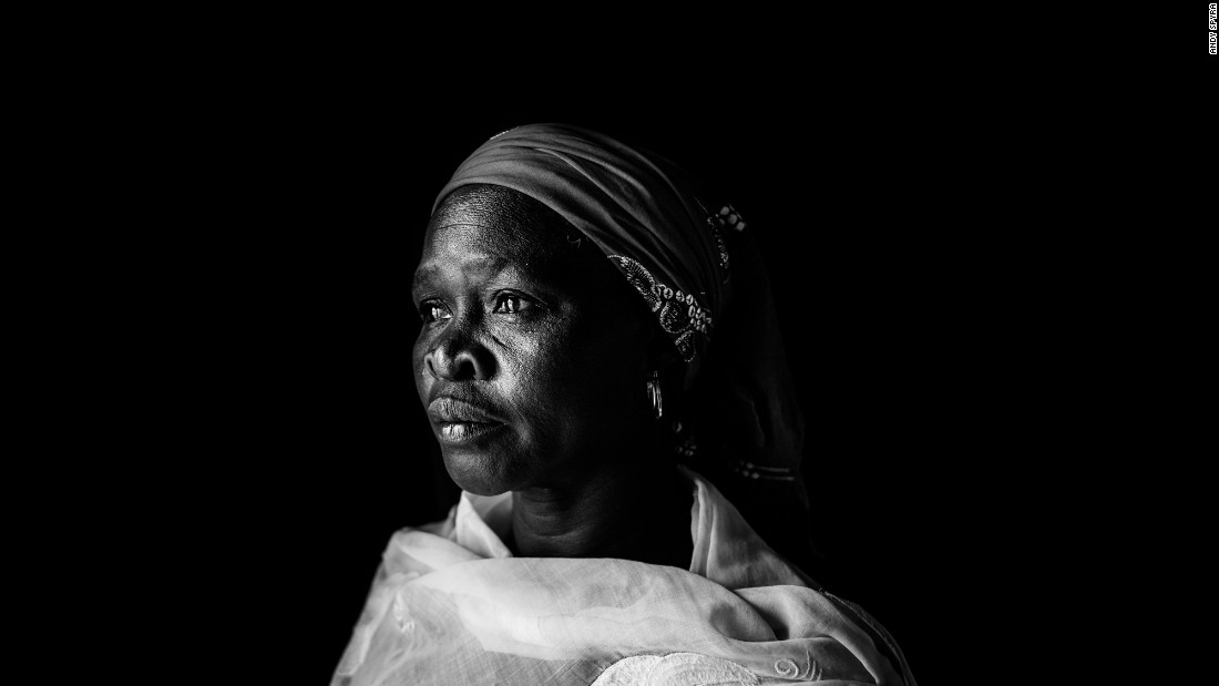 Mary John Ibrahim was working in a government hospital when Boko Haram overran the area and burned down the hospital. (Credit: Andy Spyra)