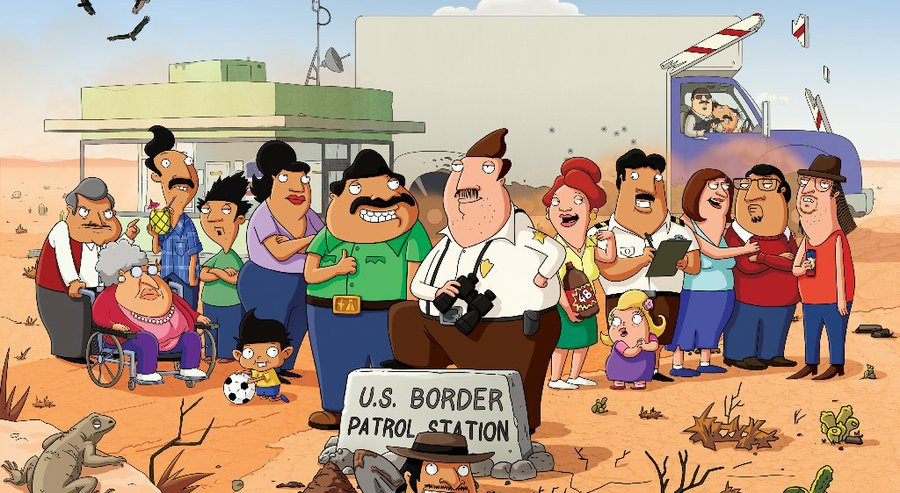 """Bordertown,"" an animated TV comedy series on Fox, features two families living in the fictional U.S. border town of Mexifornia. (Credit: Fox)"
