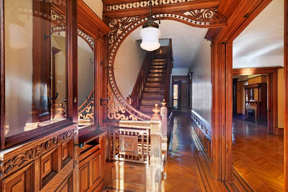 The landmarked brownstone in Brooklyn's Prospect-Lefferts Gardens neighborhood. (Credit: Corcoran Group Real Estate)