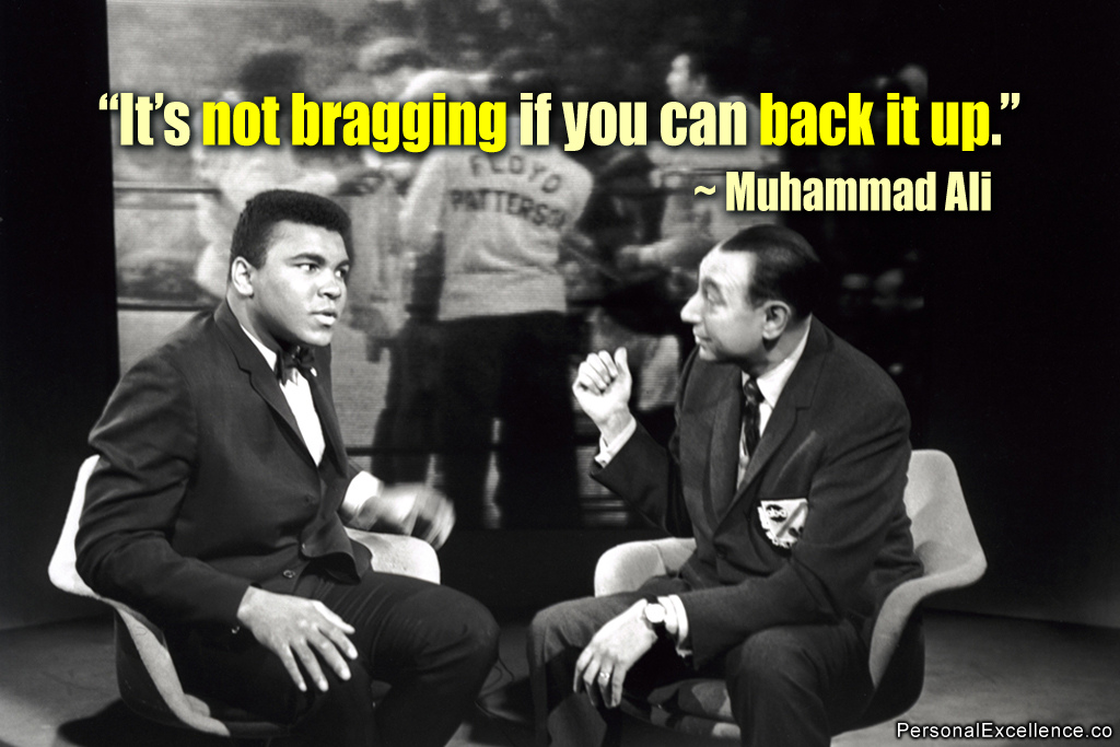 Muhammad Ali with Howard Cosell, the ABC sportscaster who initially made his reputation as a staunch defender of Ali when the heavyweight champion was stripped of his title in 1967 for refusing to be inducted into the Army during the Vietnam War. Cosell died at 77 in 1995. (Credit: Celestine Chua/Flickr)