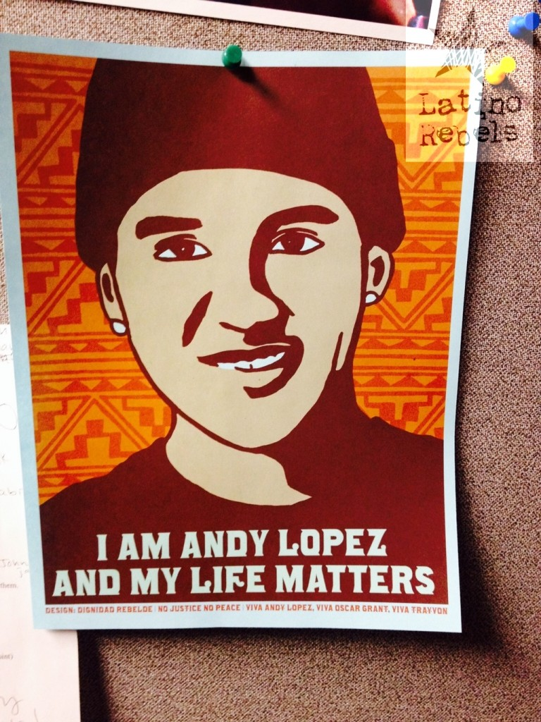 Andy Lopez, 13, was shot by police in Santa Rosa, Calif., after an officer mistook a toy gun for an assault rifle. (Credit: Latino Rebels)