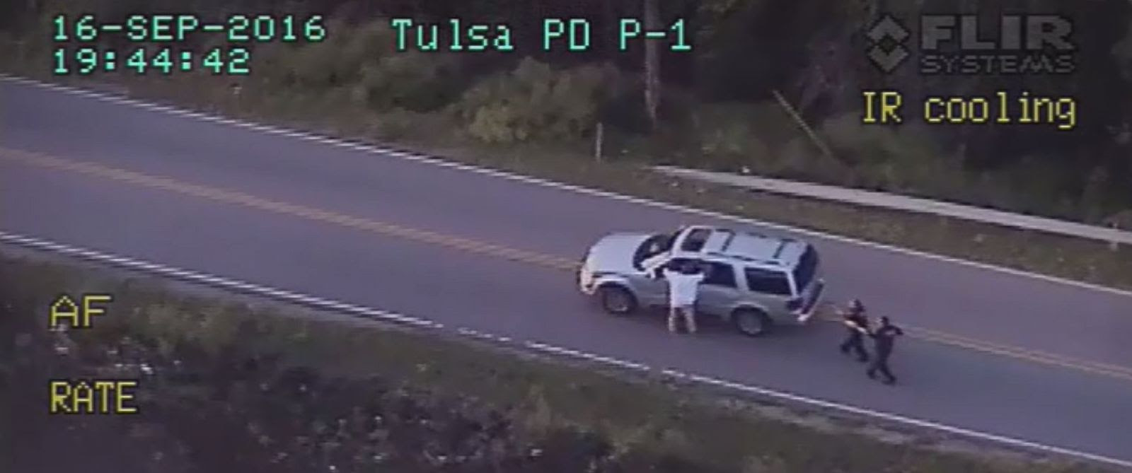 Dashcam video shows unarmed man killed by Oklahoma police. (Credit: Tulsa Police Department)