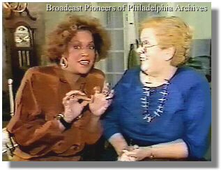Sheela Allen-Stephens, left, and Betsy Hoffman (Broadcast Pioneers of Philadelphia Archives)