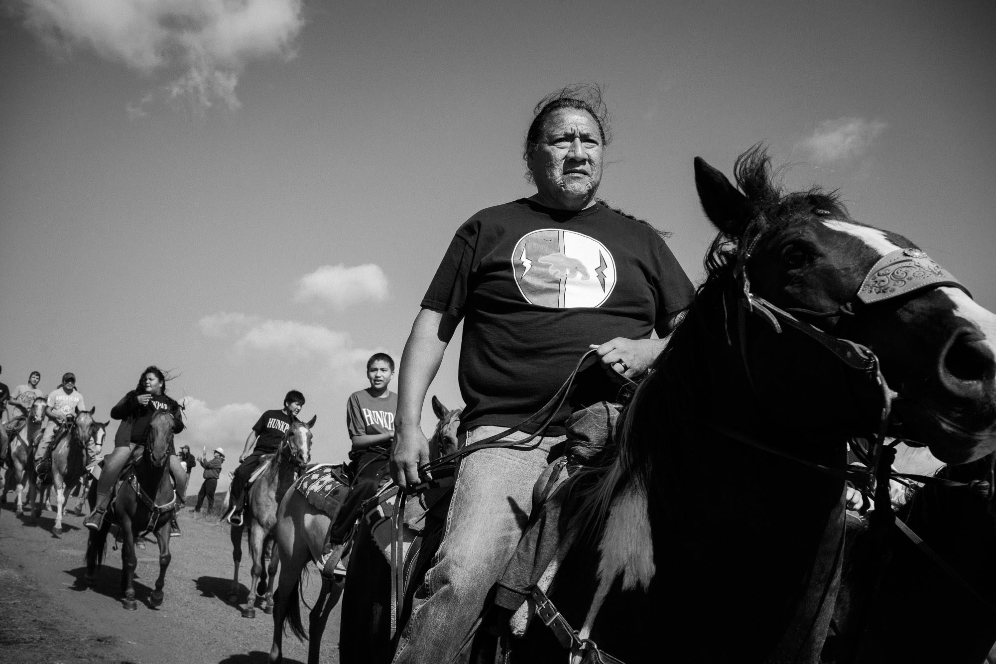 "The result of Annabelle Marcovici's photos at the Standing Rock encampment ""is a portrait of everyday life under extraordinary circumstances, behind the public rallies and ceremonies. . . . ."" (Credit: Annabelle Marcovici)"