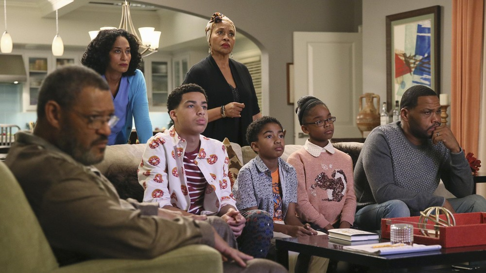 """In an episode that aired in February, the children portrayed on ABC-TV's """"black-ish' ask tough questions in the midst of a highly publicized court case involving alleged police brutality and an African American teenager. (Credit: ABC)"""