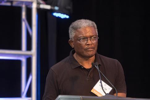 Lawrence Aaron-podium