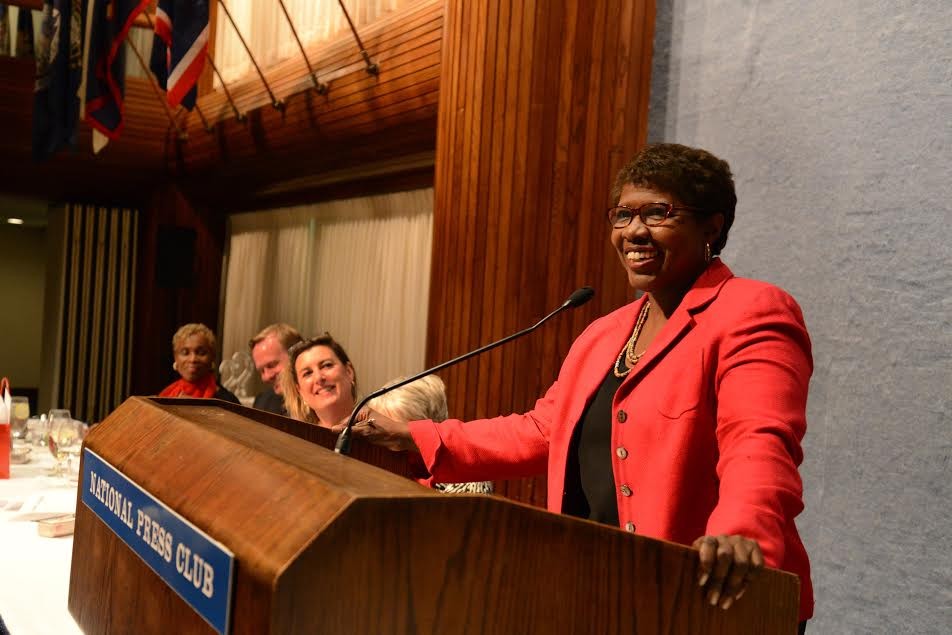Gwen Ifill roasted at the National Press Club in 2014 (Credit: Neshan Naltchayan)