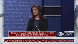 Elaine Quijano of CBS moderated the vice presidential debate on Oct. 4.